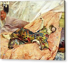 A Portrait Of Sarah Bernhardt, Reclining In A Chinese Interior  Acrylic Print