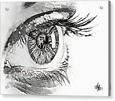 A Prayerful Eye Acrylic Print by Lynda Payton