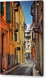 Acrylic Print featuring the photograph A Pretty Little Street In Verona Italy  by Carol Japp