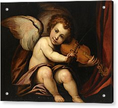 A Putto Playing The Violin Acrylic Print