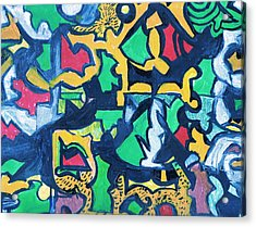 A Puzzle In A Conundrum In An Enigma Acrylic Print by Anne-Elizabeth Whiteway