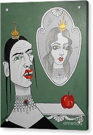 A Queen, Her Mirror And An Apple Acrylic Print