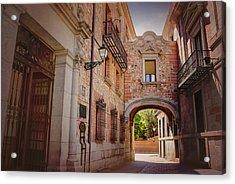 A Quiet Little Corner Of Madrid  Acrylic Print