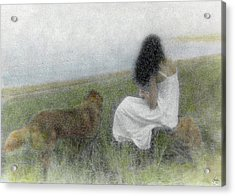 A Quiet Moment On The Vineyard Acrylic Print