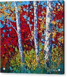 A Quiet Pause Acrylic Print by Marion Rose