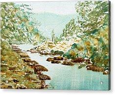A Quiet Stream In Tasmania Acrylic Print