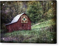 A Quilt Barn Acrylic Print by Christine Annas