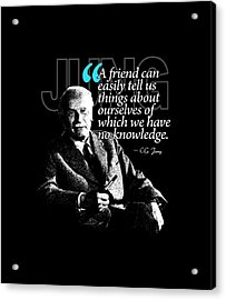 A Quote From Carl Gustav Jung Quote #26 Of 50 Available Acrylic Print