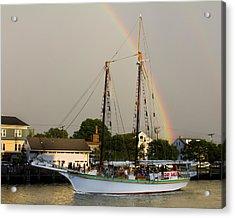 A Rainbow Cruise Acrylic Print