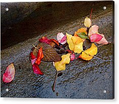A Rainy Autumn Day In The City Acrylic Print