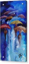 A Rainy Day In Paris Acrylic Print