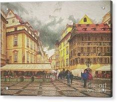 A Rainy Day In Prague Acrylic Print