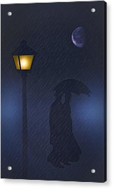 A Rainy Night Acrylic Print by Tom York Images