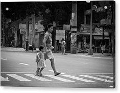 A Rare Break In Philippine Traffic Acrylic Print by Jez C Self