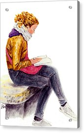 A Reading Girl In Milan Acrylic Print