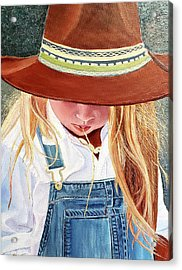 A Real Cowgirl Acrylic Print