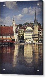 A Reflection Of Lucerne Acrylic Print by Carol Japp