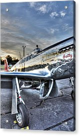 A Reflective Mustang Acrylic Print by David Collins