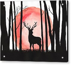 A Reindeer In The Woods Acrylic Print