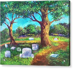 Acrylic Print featuring the painting A Remembrance by Randol Burns