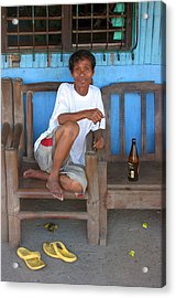 A Rest And A Beer Acrylic Print by Jez C Self