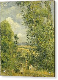 A Rest In The Meadow Acrylic Print by Camille Pissarro