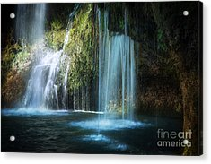 A Resting Place At Natural Falls Acrylic Print by Tamyra Ayles