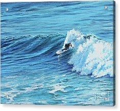 A Ride On Steamer Lane Acrylic Print
