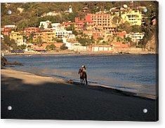 A Ride On The Beach Acrylic Print by Jim Walls PhotoArtist