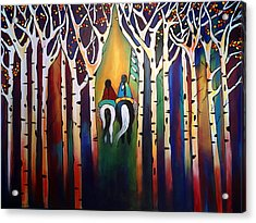 A Ride Through The Aspens Acrylic Print