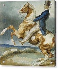 A Rider And His Rearing Horse Acrylic Print