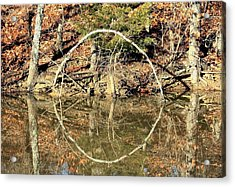 A Ring On The Pond In Fall Acrylic Print