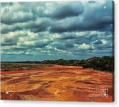 Acrylic Print featuring the photograph A River Of Red Sand by Diana Mary Sharpton