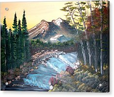 A River Runs Through It Acrylic Print by Sheldon Morgan
