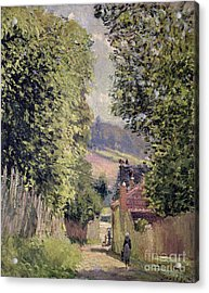 A Road In Louveciennes Acrylic Print by Alfred Sisley