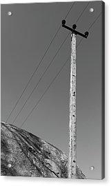 Acrylic Print featuring the photograph A Rock And A Pole, Hampi, 2017 by Hitendra SINKAR