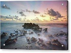 A Rocky Sunrise. Acrylic Print