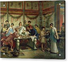 A Roman Feast Acrylic Print by Roberto Bompiani