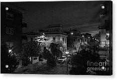 A Roman Street At Night Acrylic Print