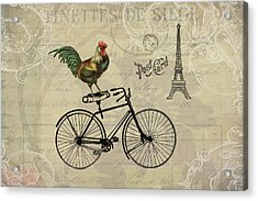 A Rooster In Paris Acrylic Print