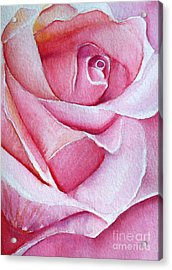 Acrylic Print featuring the painting A Rose For You by Allison Ashton