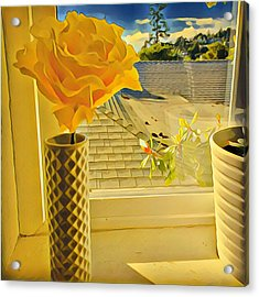 A Rose Is A Rose Electric Acrylic Print