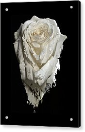 A Rose Melted Down In A Moment Acrylic Print by Cristina Tamiso