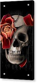 A Rose On The Skull Acrylic Print