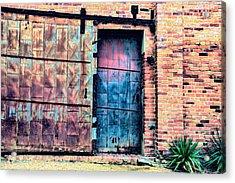 A Rusty Loading Dock Door Acrylic Print