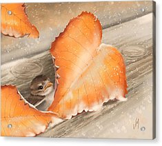 Acrylic Print featuring the painting A Safe Place by Veronica Minozzi