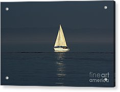 A Sailboat Capturing Light Acrylic Print