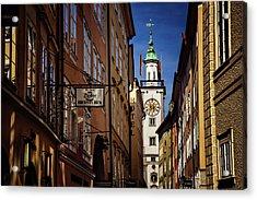 A Salzburg Street  Acrylic Print by Carol Japp