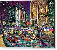 Acrylic Print featuring the painting A San Antonio Christmas by Patti Schermerhorn