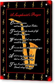 A Saxophonists Prayer_1 Acrylic Print by Joe Greenidge